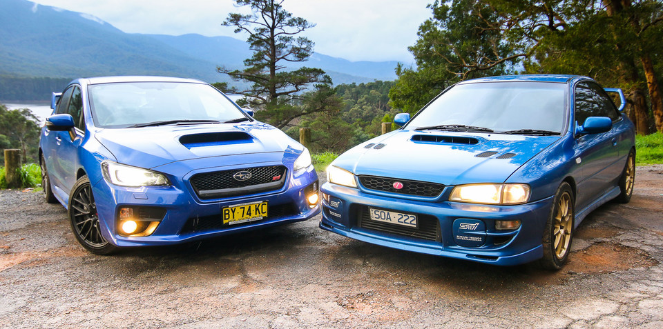 Subaru WRX STI Old v New Comparison: 2015 sedan v 1999 two-door