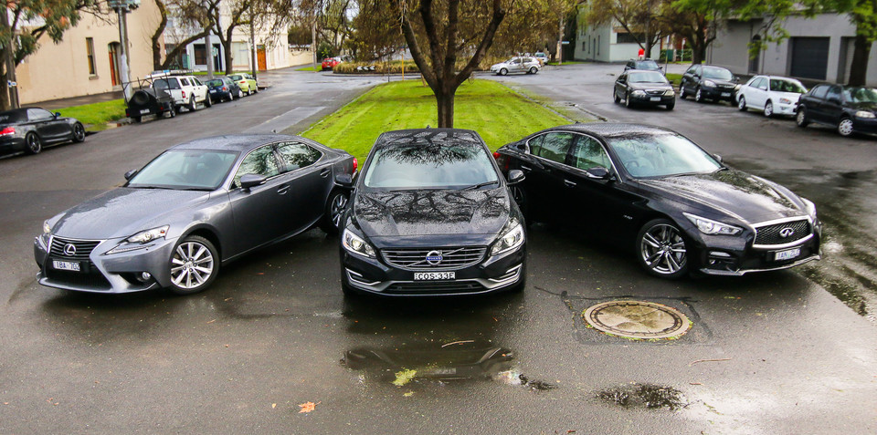 Luxury Sedan Comparison Round Two : Infiniti Q50 v Lexus IS v Volvo S60