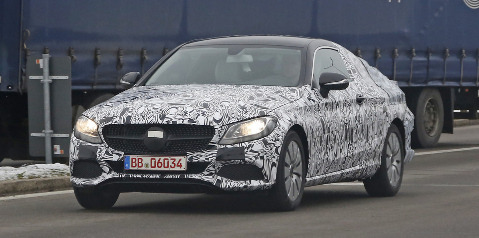 2015 Mercedes-Benz C-Class Coupe spied
