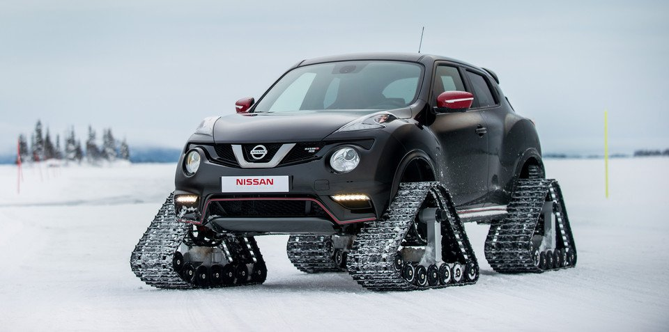 Nissan Juke Nismo RSnow fitted with tracks to tackle Lapland
