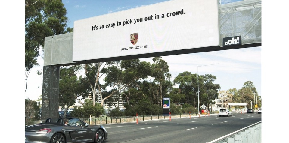 Porsche drivers to get special attention from world-first Melbourne billboard