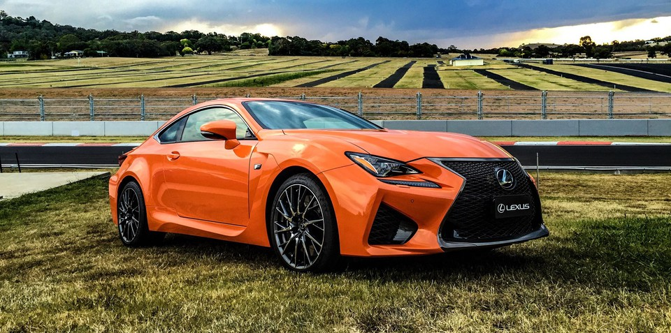 Lexus RC F Coupe launches at the iconic Mount Panorama race circuit