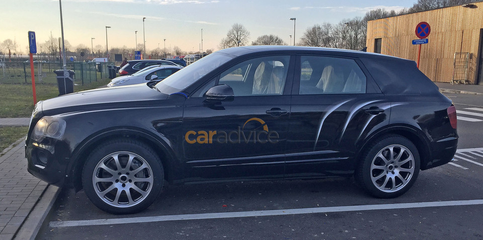 Bentley Bentayga SUV spied nearly free of camouflage