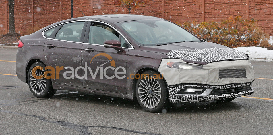 2016 Ford Mondeo facelift spied testing in Detroit