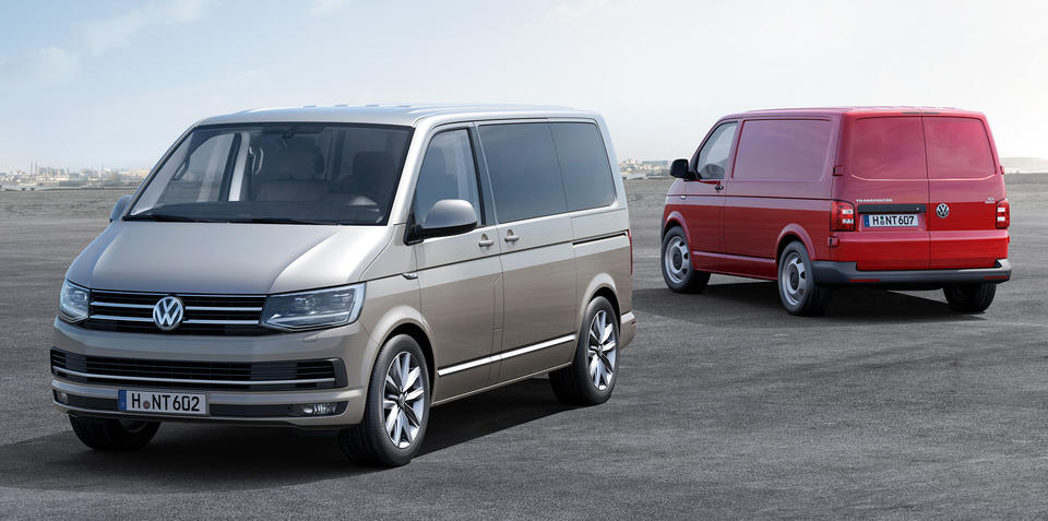 2016 Volkswagen T6 Transporter, Caravelle and Multivan models:: first details