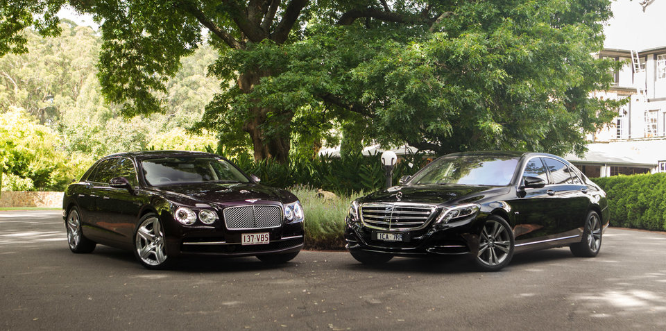 Mercedes Benz S600 L V Bentley Flying Spur W12
