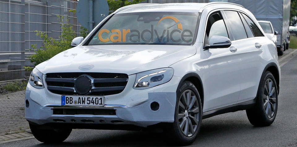Mercedes-Benz GLC spied virtually undisguised ahead of launch