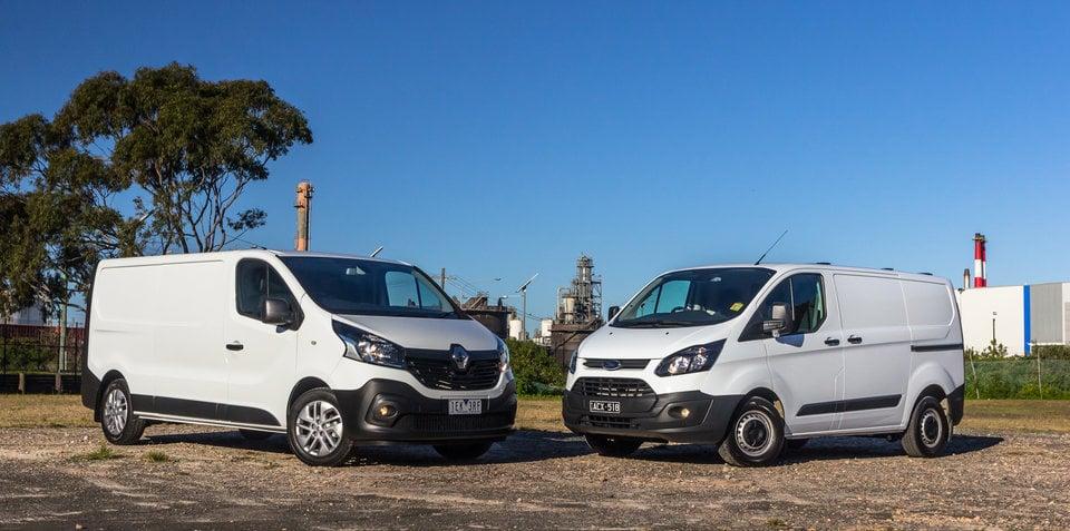 Ford Transit Custom V Renault Trafic Medium Van Comparison