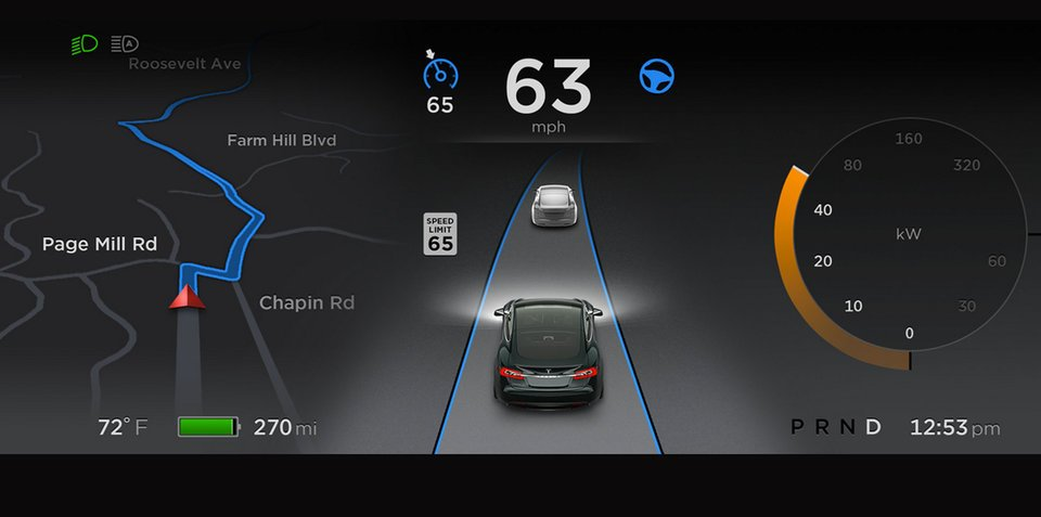 Tesla Model S software version 7 adds automated steering and lane changing, but driver liable for any accidents