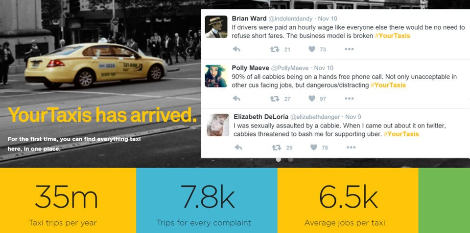 #YourTaxis: Vic Taxi Association launches feedback campaign, Twitter explodes