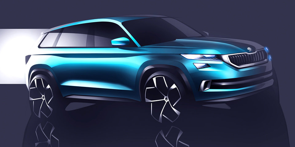 Skoda VisionS SUV concept teased, new design language promised