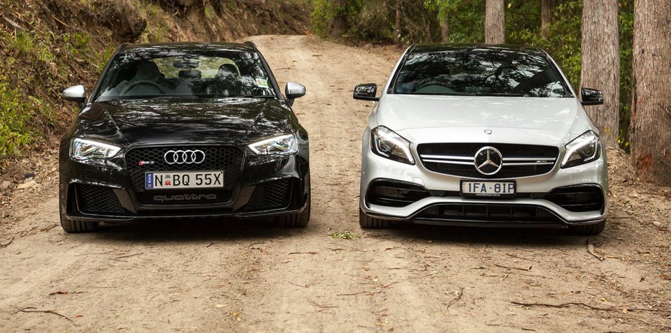 Audi RS3 v Mercedes-AMG A45 Comparison: Road Test