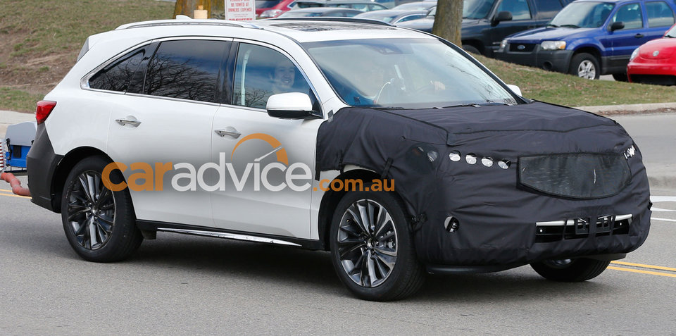 2017 Acura MDX facelift spied testing