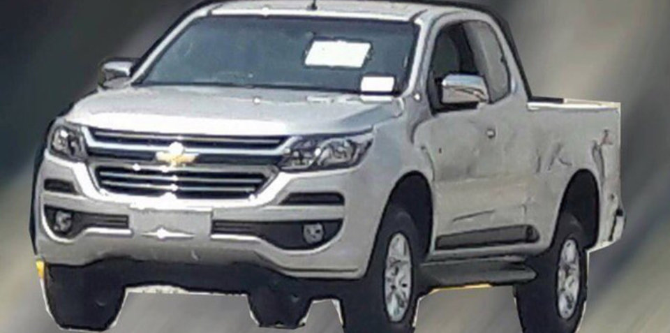 2017 Holden Colorado ute facelift surfaces online again