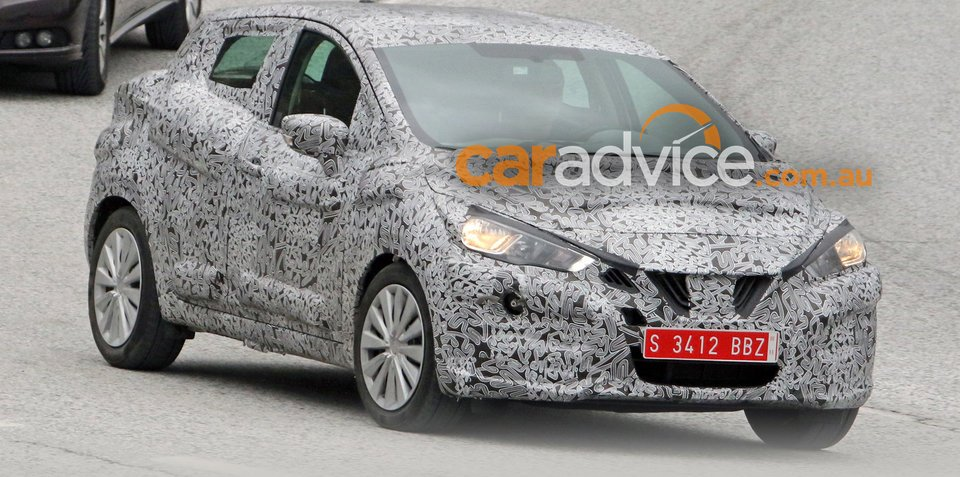 2017 Nissan Micra spied testing:: Paris debut likely for new-look micro