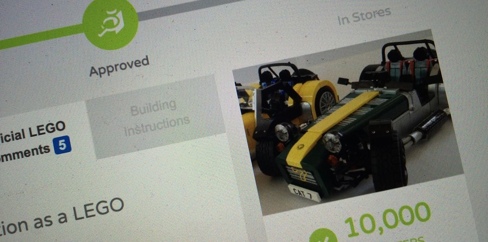 LEGO Caterham Seven set coming soon to a store near you