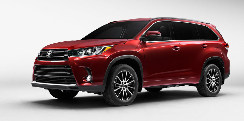 2017 Toyota Kluger facelift unveiled, Australian launch due next year