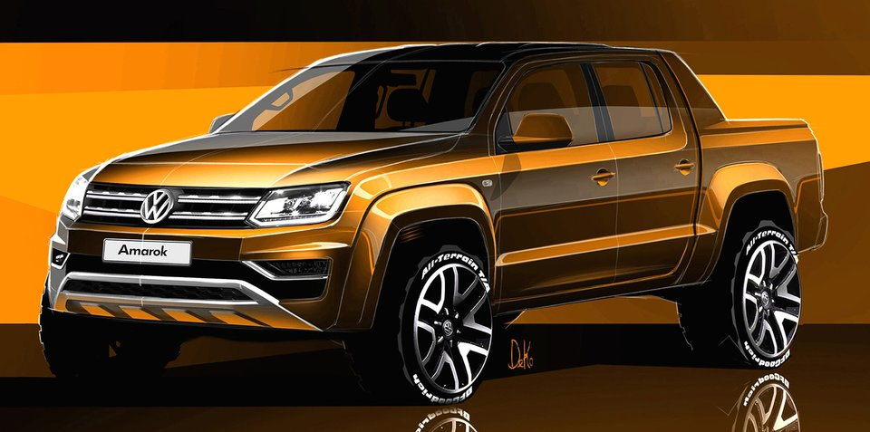 2017 Volkswagen Amarok sketches revealed