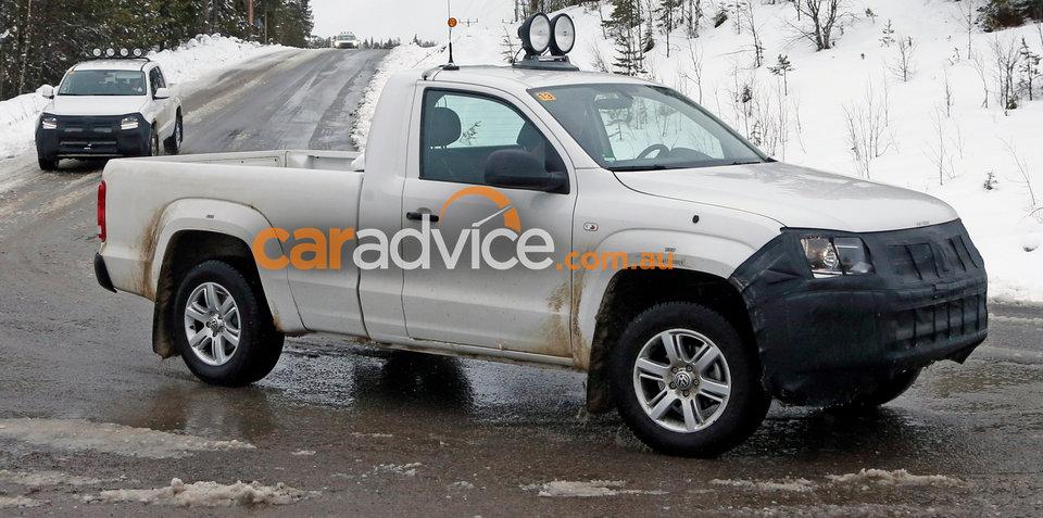 2017 Volkswagen Amarok spied testing in Sweden
