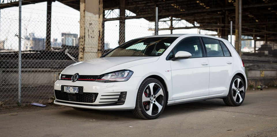 Volkswagen Golf GTI and R sales fly in down July