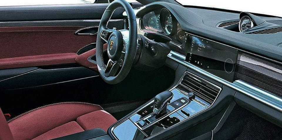 2017 Porsche Panamera interior revealed in leaked image?