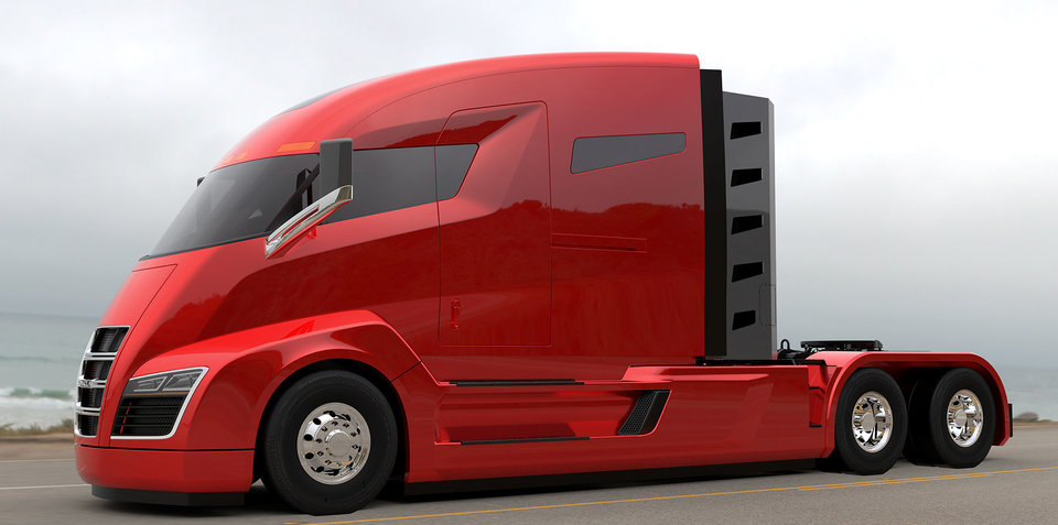 Nikola One: hybrid semi unveiled by US startup