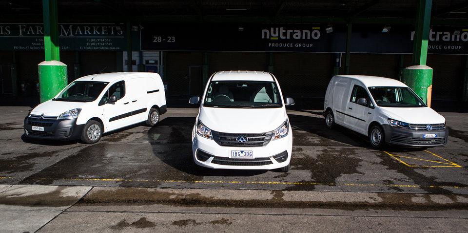 Budget van comparison: Citroen Berlingo v LDV G10 v Volkswagen Caddy