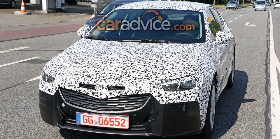 2018 Holden Commodore spied without false body panels