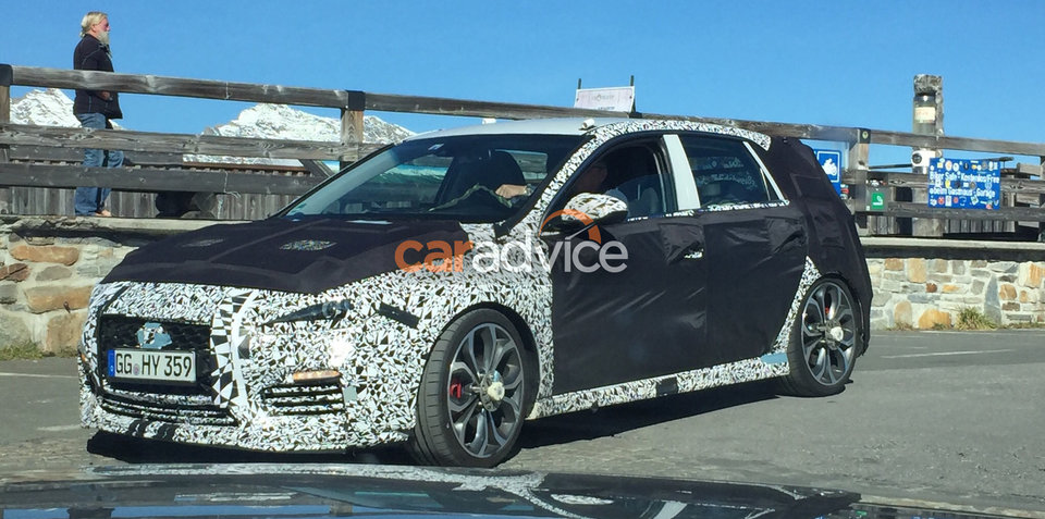 Hyundai i30 N spotted testing in Austria