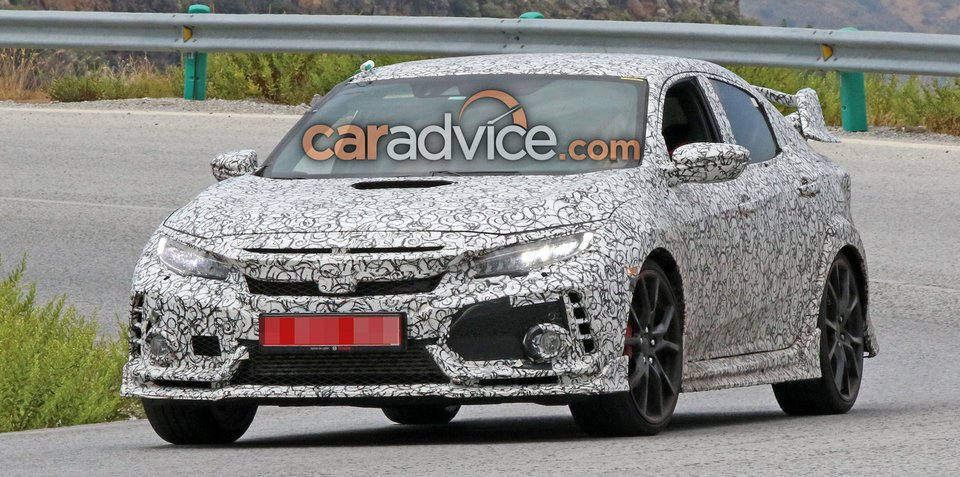 2017 Honda Civic Type R spied with extra details on display