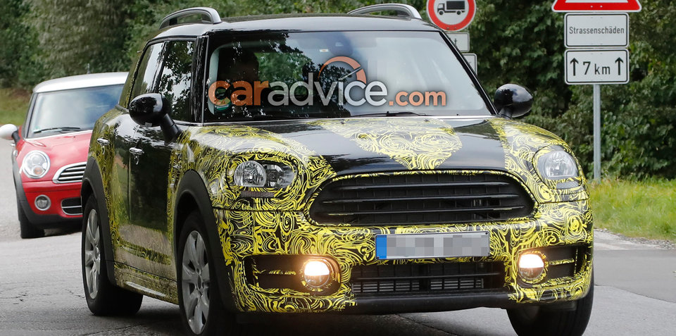 2017 Mini Countryman spied with less camouflage