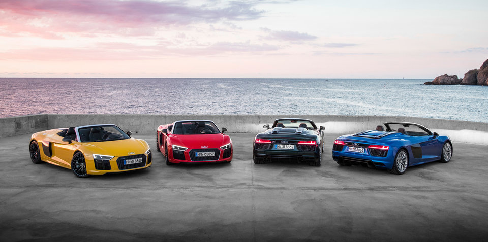 "2017 Audi R8 Spyder pricing and specs: ""Lighter, stiffer and faster"" droptop here next year"