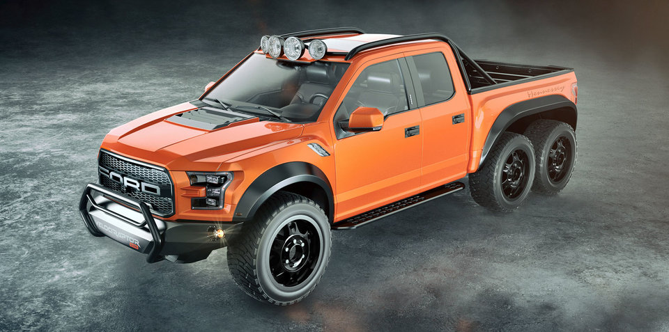Hennessey VelociRaptor: 6x6 Ford F-150 Raptor unveiled