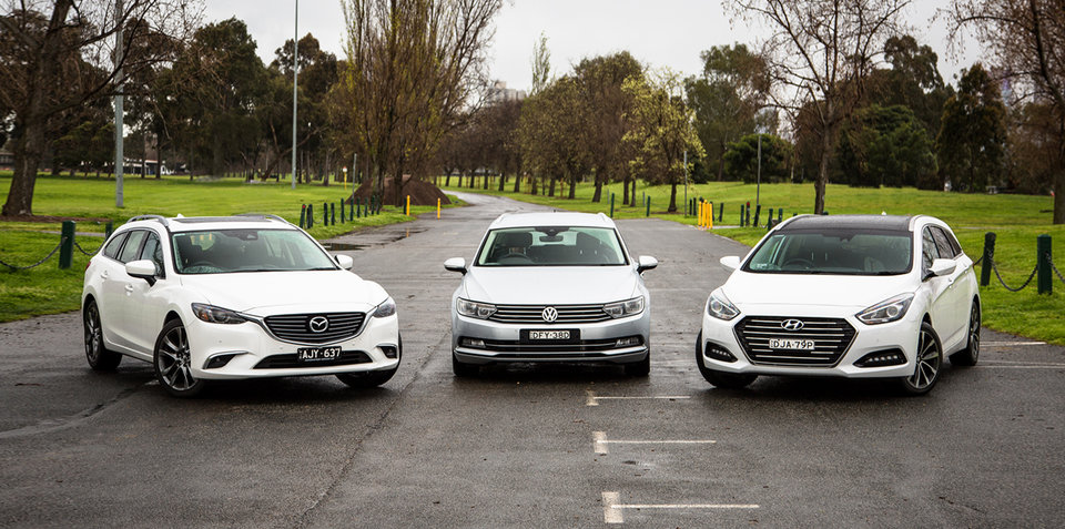 Medium wagon comparison: Hyundai i40 v Mazda 6 v Volkswagen Passat