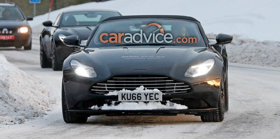 2018 Aston Martin DB11 Volante spied in Sweden