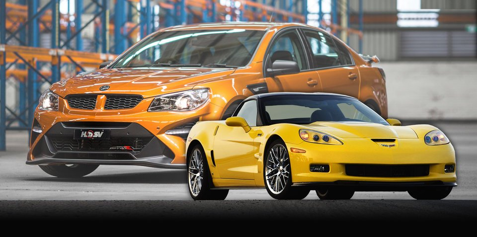 "HSV GTSR W1 v Chevrolet Corvette ZR1: ""I think we'd push it"""