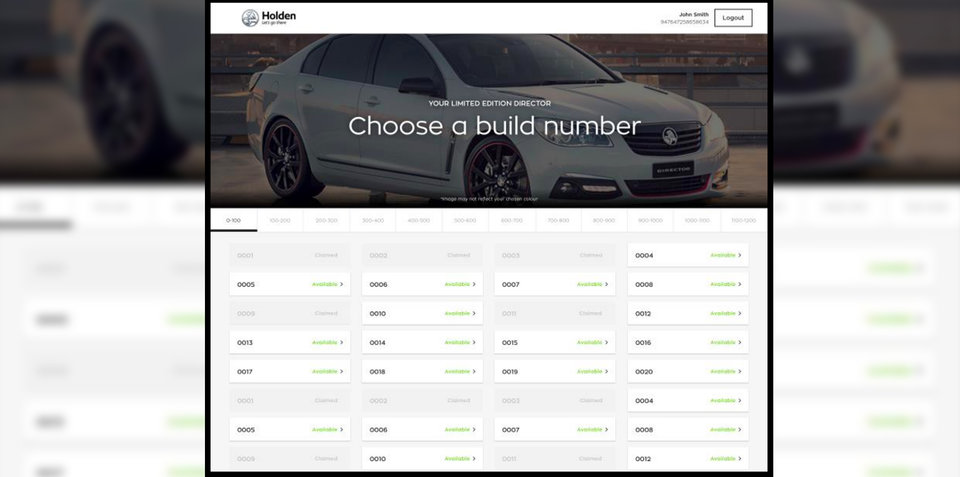 Holden Commodore: Customers to choose final build numbers