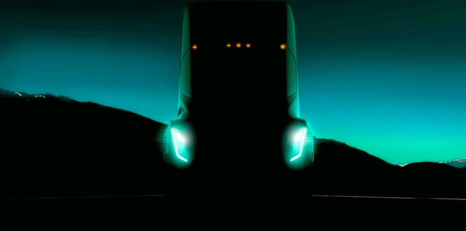 Tesla Semi truck teased at conference
