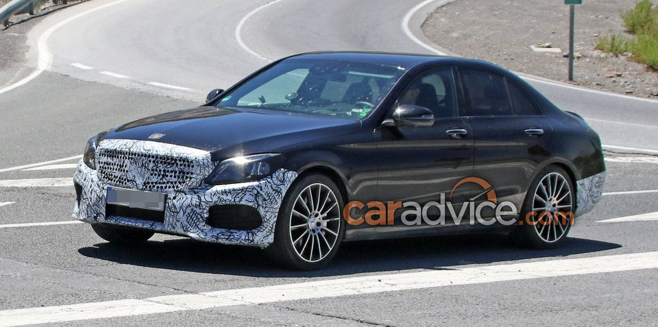 2018 Mercedes-Benz C-Class facelift spied inside and out