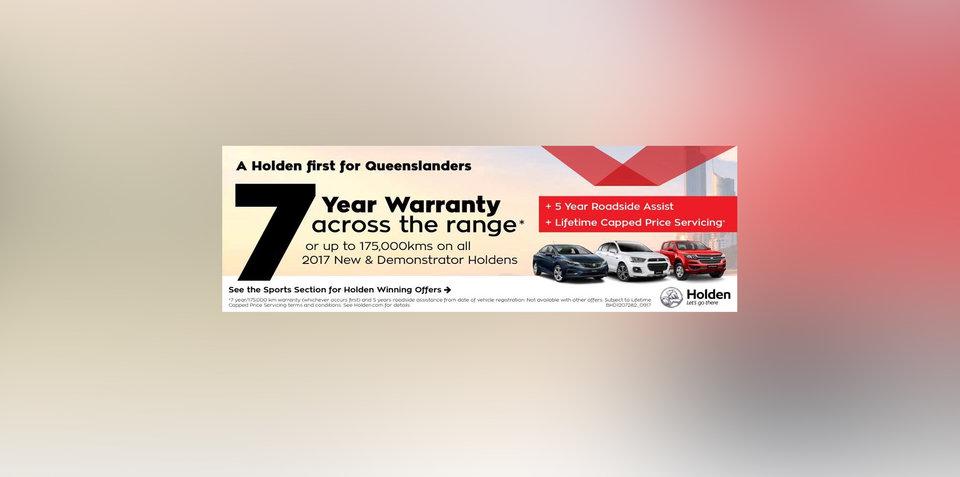 Holden confirms 7-year, 175,000km warranty - UPDATE