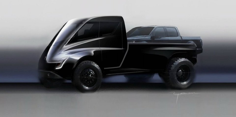 Tesla Pickup teased
