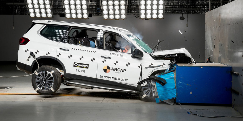 LDV D90 scores five stars in ANCAP crash safety testing