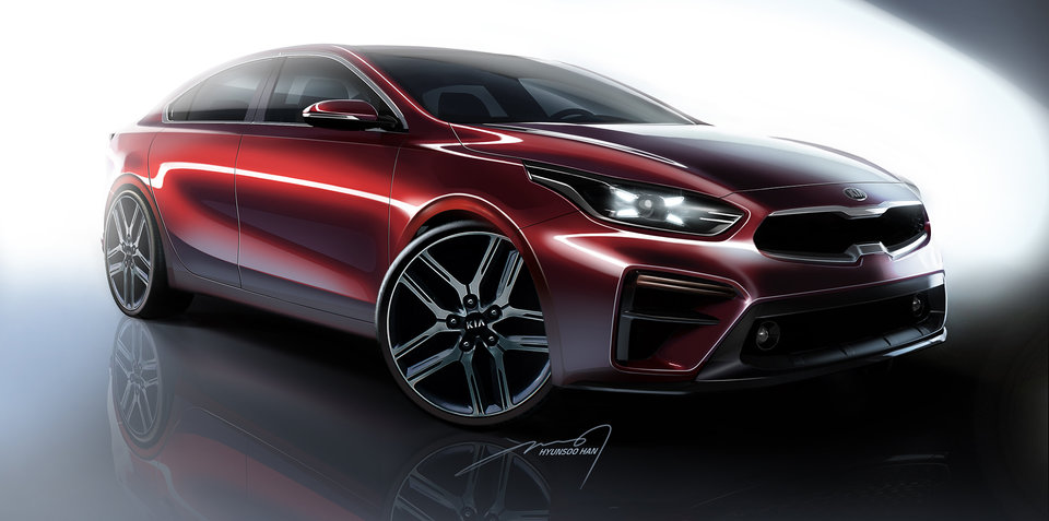 2018 Kia Cerato sketched ahead of Detroit