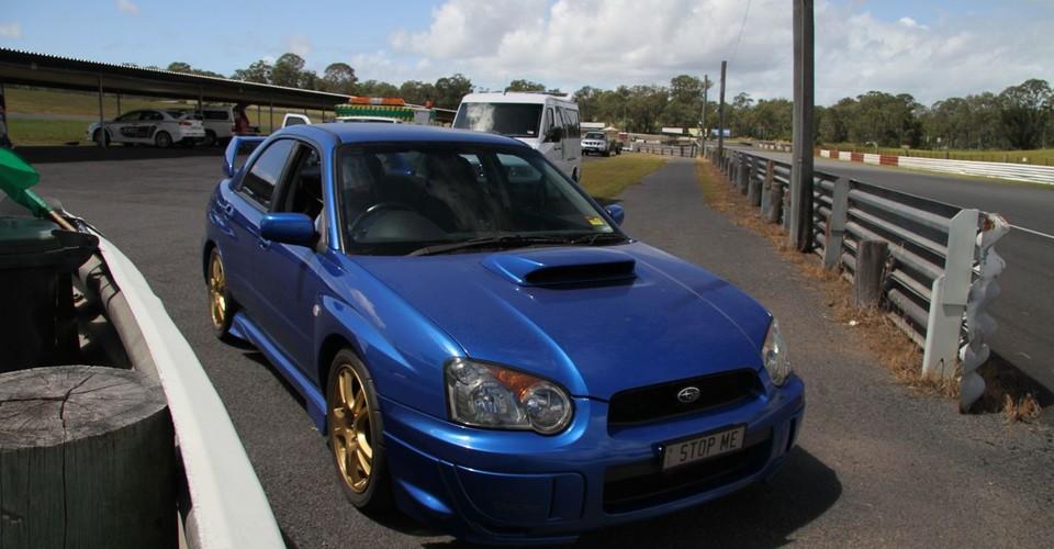 Subaru WRX on Track at Lakeside