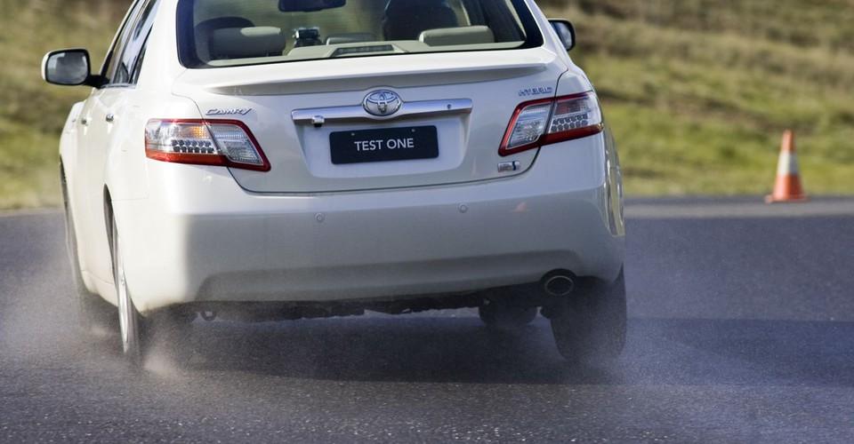 Toyota Hybrid Camry On Track