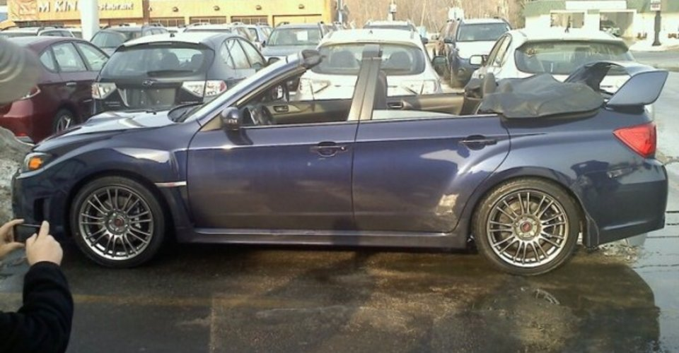 subaru wrx sti convertible is all kinds of wrong. Black Bedroom Furniture Sets. Home Design Ideas