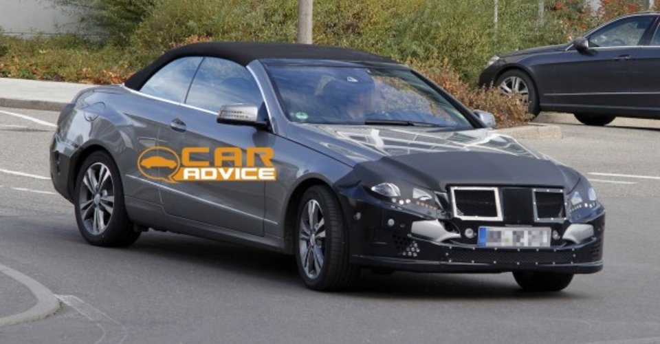 2013 mercedes benz e class cabriolet luxury soft top spied for 2013 mercedes benz e350 cabriolet