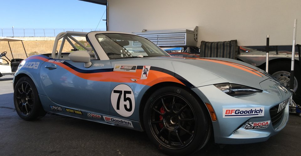 Mazda Mx 5 Cup Car Driver Set Up At Mazda Raceway Laguna