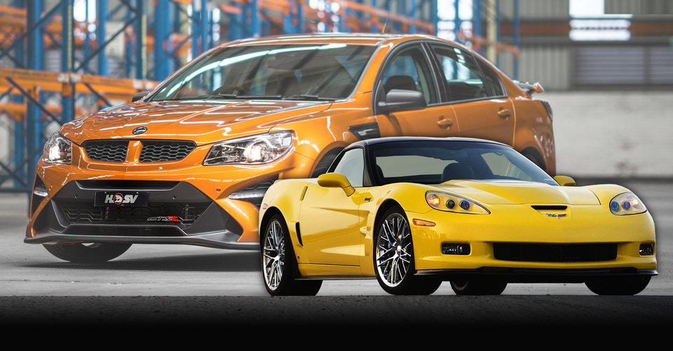 "HSV GTSR W1 v Chevrolet Corvette ZR1: ""I think we'd push it"" - Cars"