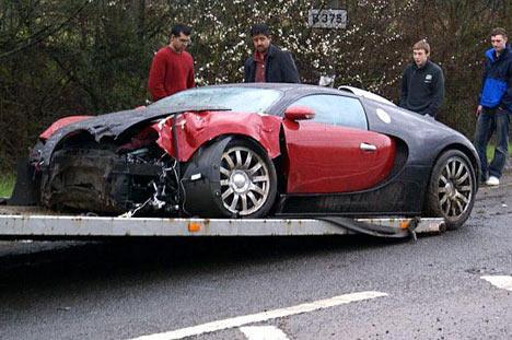 bugatti veyron crash photos 1 of 4. Black Bedroom Furniture Sets. Home Design Ideas